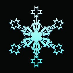 1A.JPG Télécharger fichier STL Flocons de neige • Design pour imprimante 3D, 3deye