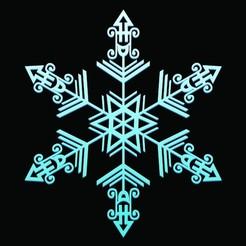 3A.JPG Télécharger fichier STL Flocons de neige • Design pour imprimante 3D, 3deye
