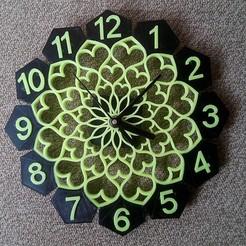 clock.jpg Download STL file Floral design Wall clock • 3D printing model, 3deye