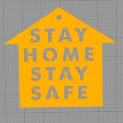 Download free 3D printing templates Stay home stay safe, 3deye