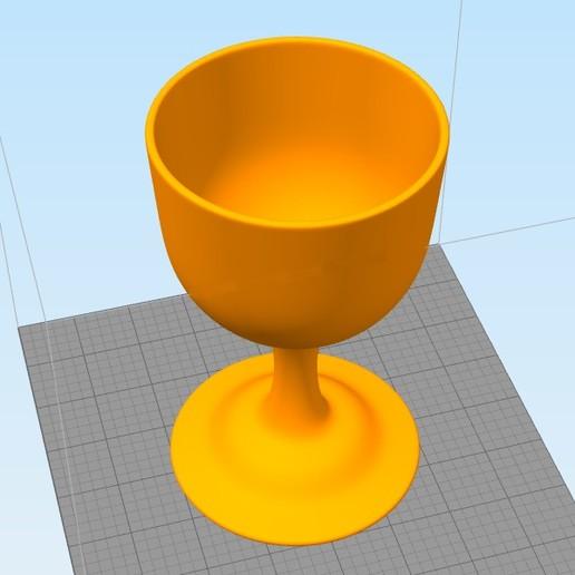 Download free 3D printer designs wineglass, 3deye