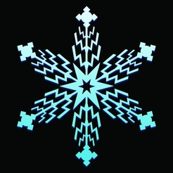 2A.JPG Télécharger fichier STL Flocons de neige • Design pour imprimante 3D, 3deye