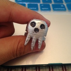 Free 3d printer designs Death the Kid Ring, sh0rt_stak
