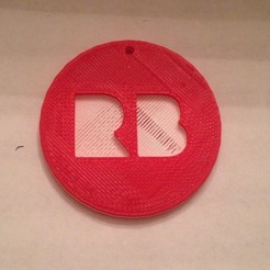 Download free 3D printer templates Redbubble Logo Coin, sh0rt_stak