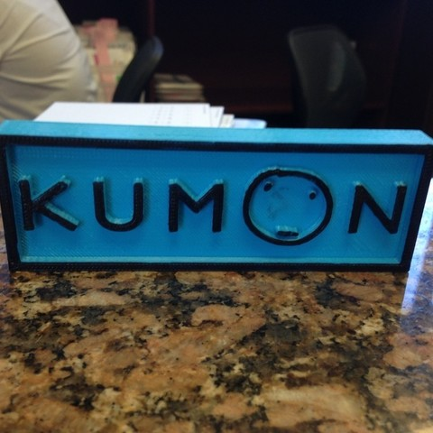 Download free STL files Kumon Logo, sh0rt_stak