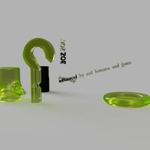 Download free STL files pseudomirrored WONNOM reality hook, Henry_Millenium