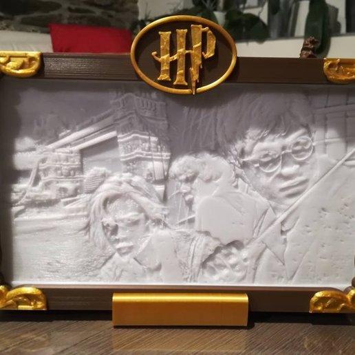 Download 3D printing files Harry Potter Lithophane lamp, Litho3D