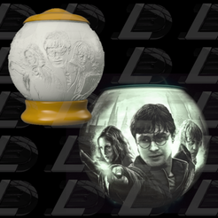 Vignette2.png Télécharger fichier OBJ Harry Potter night light lithophane • Modèle imprimable en 3D, Ludo3D