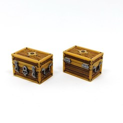 3D print files Square Wooden Treasure Chest - Multimaterial, RobagoN