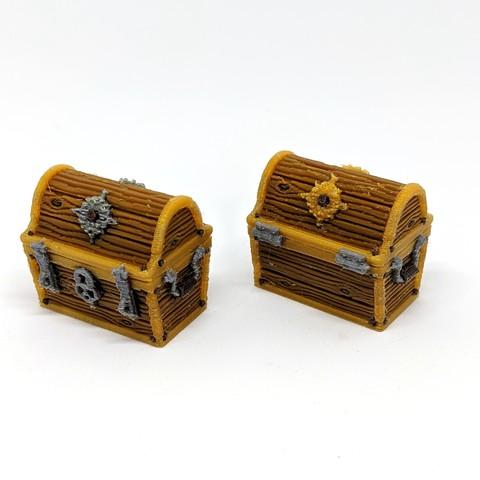 Imprimir en 3D Cofre del Tesoro de Madera - Multimaterial, RobagoN