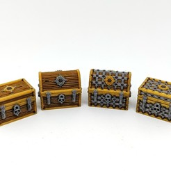 3D print files Multimaterial Treasure Chest Bundle, RobagoN