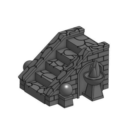 Télécharger fichier STL gratuit Escaliers pour Gloomhaven • Modèle pour imprimante 3D, RobagoN