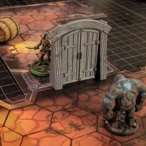 Download free 3D printing files Wood Dungeon Door - Hinged, Open/Closed, & Slide In, RobagoN