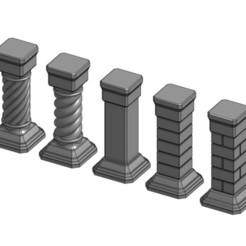 Free 3D printer designs Stone Pillars for Gloomhaven, RobagoN