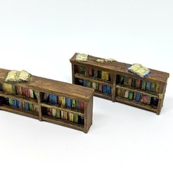 Free 3D printer designs Bookcases for Gloomhaven (Remix), RobagoN