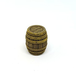 Download free 3D printing designs Wooden Rope Barrel for Gloomhaven, RobagoN