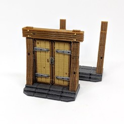 3D printer models Wooden Door - Multimaterial, RobagoN