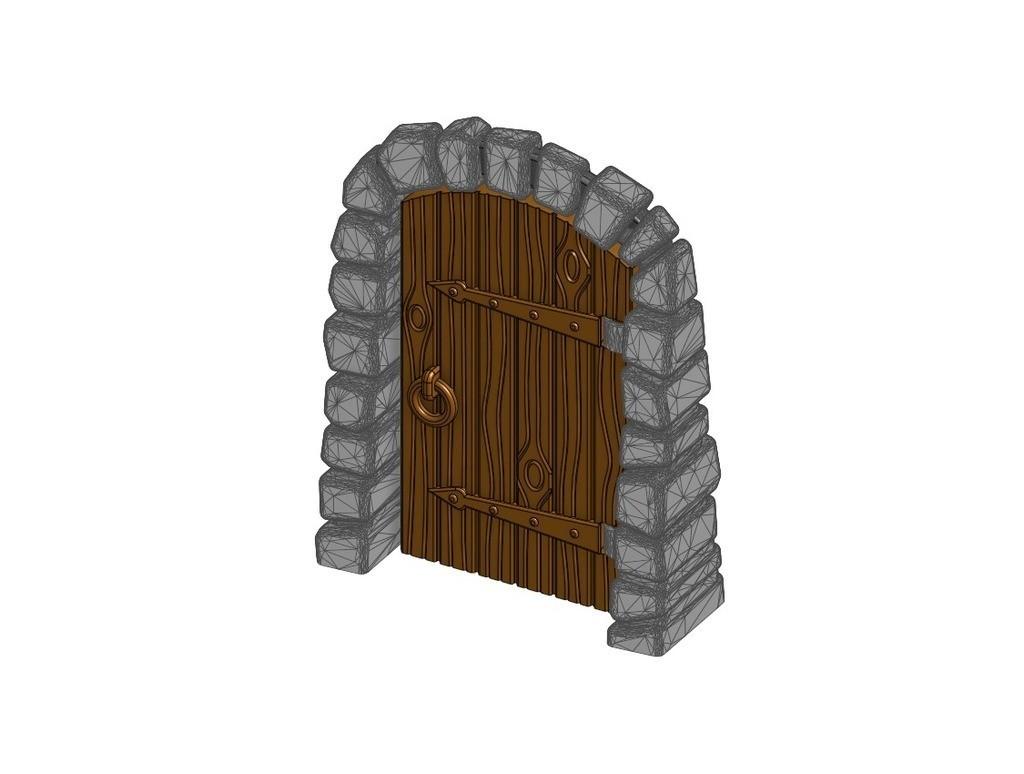 43c4d3ed8b17c129ebdceebfa34b31b6_display_large.jpg Télécharger fichier STL gratuit Porte Donjon en pierre - Travailler avec du grain de bois (Remix) • Design pour impression 3D, RobagoN