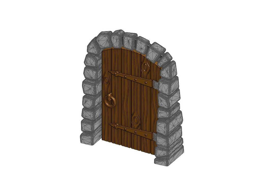43c4d3ed8b17c129ebdceebfa34b31b6_display_large.jpg Download free STL file Stone Dungeon Door - Working with Wood Grain (Remix) • 3D printer template, RobagoN