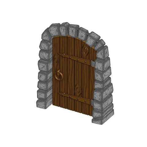 Free 3D printer designs Stone Dungeon Door - Working with Wood Grain (Remix), RobagoN