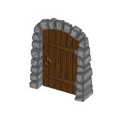 Download free 3D printer templates Stone Dungeon Door - Working with Wood Grain (Remix), RobagoN