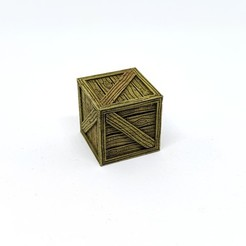 Download free 3D printer model Wooden Crate for Gloomhaven, RobagoN