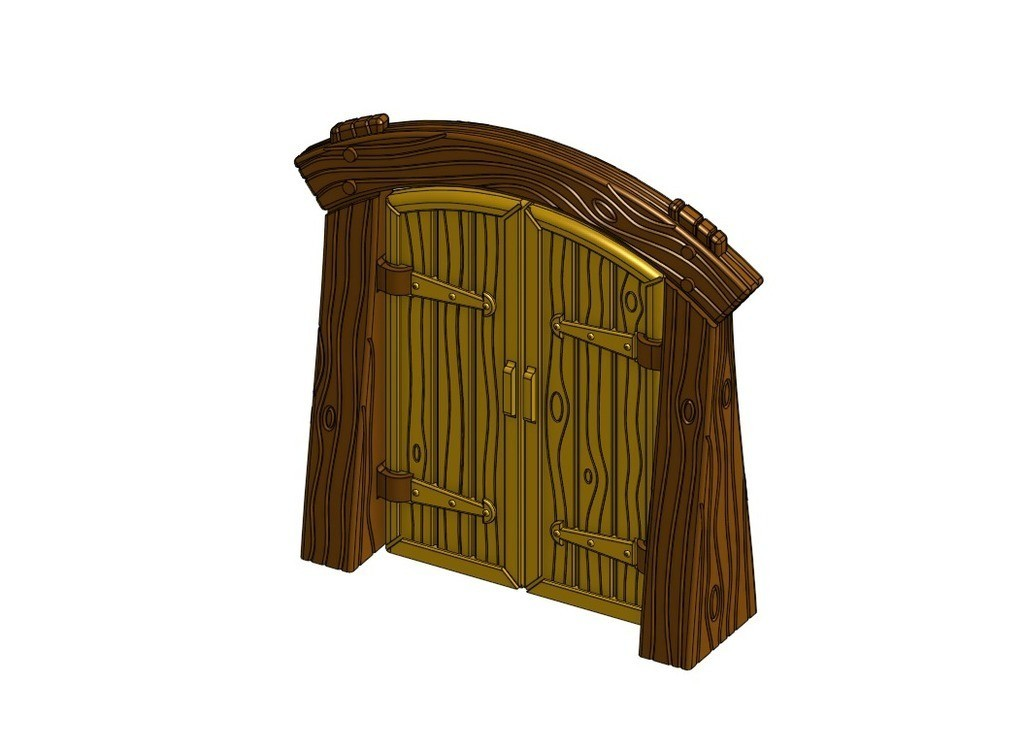 80f85db6c737199411817e6f157dfda7_display_large.jpg Download free STL file Wood Dungeon Door - Hinged, Open/Closed, & Slide In • 3D printing model, RobagoN