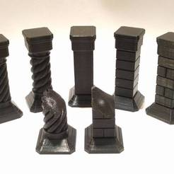 Download free 3D printer designs Stone Pillars for Gloomhaven, RobagoN