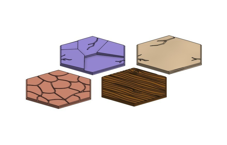 9157d8ca072ced0b7d954f7dd868a50e_display_large.jpg Download free STL file Terrain Overlay Tiles For Gloomhaven • Object to 3D print, RobagoN