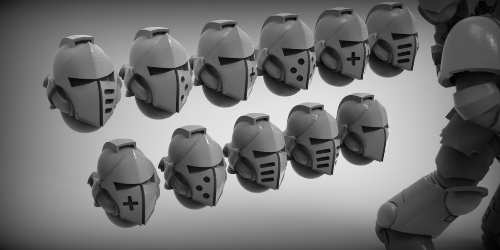 9f526d65319a519057909713676884aa_display_large.jpg Download free STL file sci-fi Knight helmets - thankyou for 1000 followers! • 3D printing template, BREXIT