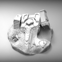 Download free 3D model Space communist ship wreckage, BREXIT