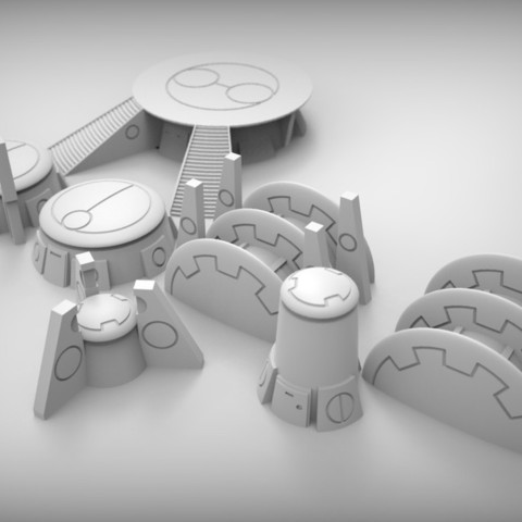 photograph about Free 3d Printable Terrain referred to as alien market place terrain