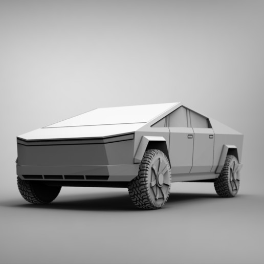 untitled.1090.jpg Download free STL file Tesla Cybertruck 28mm • 3D printing design, BREXIT