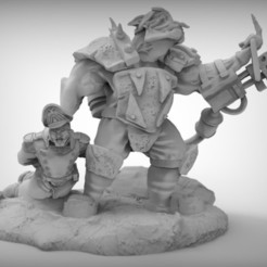 Download free 3D printer files orc with flame thrower, BREXIT
