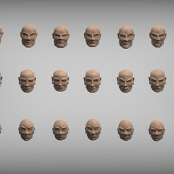 Free 3D model Heroic scale heads for wargaming miniatures 28mm, BREXIT