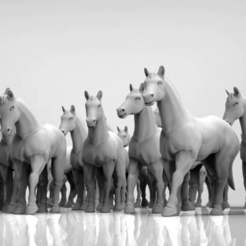Download free 3D printer designs Horses at ease 28mm heroic scale, BREXIT