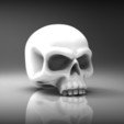 Download free 3D printer templates Heroic scale skull 28mm, BREXIT