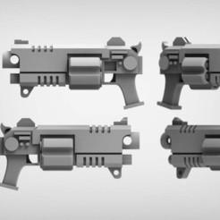 09cb93d51e4959c744e1b704cac368e0_display_large.jpg Télécharger fichier STL gratuit Revolver à boulon 1-1 • Design imprimable en 3D, BREXIT