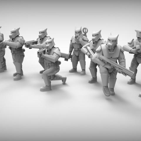 Descargar archivos 3D gratis PERROS DE GUARDIA x10 28mm (RESINA), BREXIT