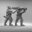 Free STL files GUARD DOGS - HEAVY WEAPONS 2 x4 28mm (RESIN), BREXIT