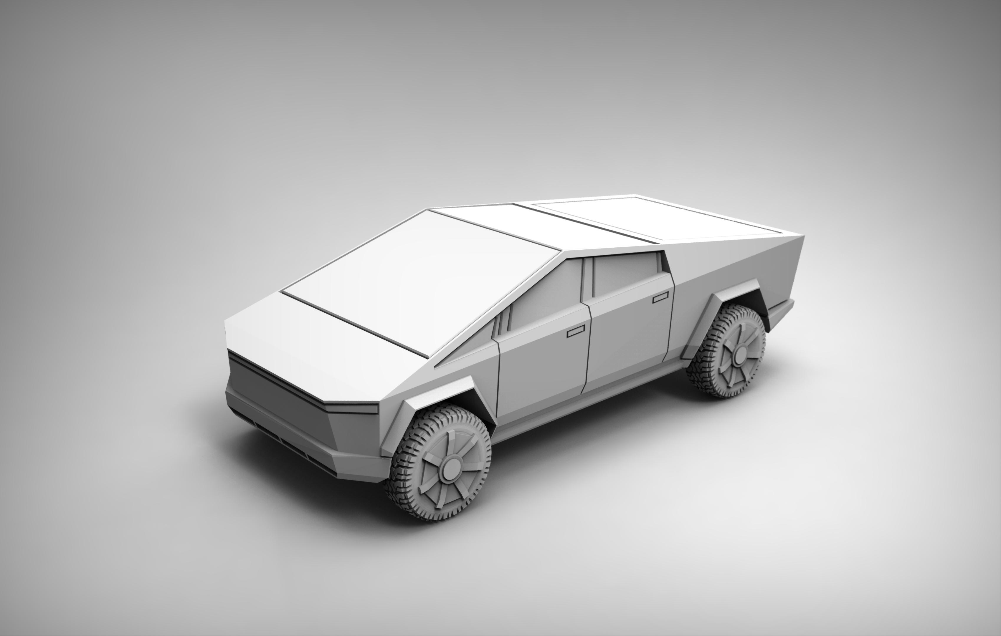 untitled.1092.jpg Download free STL file Tesla Cybertruck 28mm • 3D printing design, BREXIT