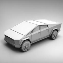 Impresiones 3D gratis Tesla Cybertruck 28mm, BREXIT