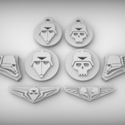 Download free 3D printing models Imperial Iconography / aquila / skull / keyring, BREXIT