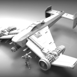 Download free STL file SCI-FI STUKA BOMBER • 3D printer design, BREXIT