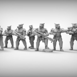 Free 3D printer model SPECIAL WEAPONS - GUARD DOGS x9 28mm (RESIN), BREXIT