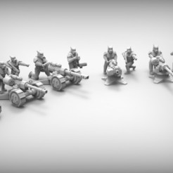 Download free STL files HEAVY WEAPONS - GUARD DOGS 28mm (RESIN), BREXIT