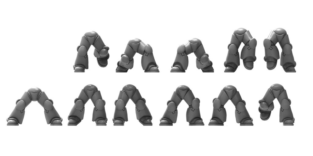 29efa5721de0fc0e5c12db67f7578752_display_large.jpg Download free STL file 11 pairs of power armour legs - 28mm heroic • Object to 3D print, BREXIT
