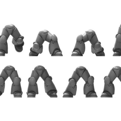 Descargar archivos STL gratis 11 pares de patas de armadura de poder - 28mm heroico, BREXIT