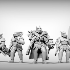 Free 3D print files GUARD DOGS - COMMAND SQUAD x6 28mm (RESIN), BREXIT
