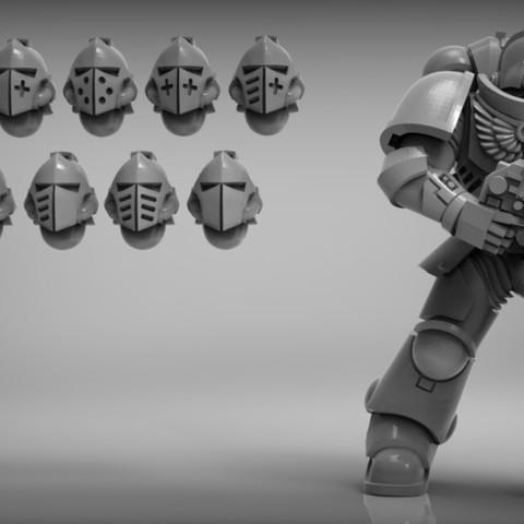 sci-fi Knight helmets - thankyou for 1000 followers!